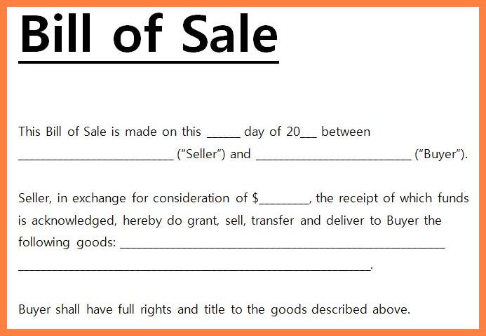free simple bill of sale template bill of sale form template