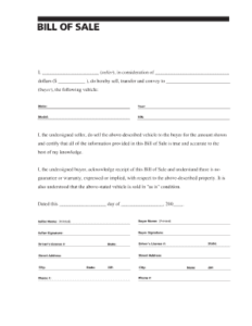 Alberta bill of sale template